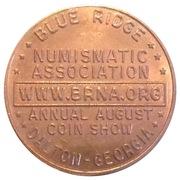 Token - Blue Ridge Numismatic Association – reverse
