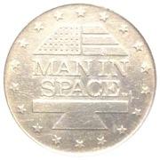 Shell Oil Token - Man In Space (Gemini XII) – reverse