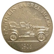 Token - Sunoco Antique Car Coin Series 1 (Franklin Barrel Hood) – obverse