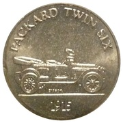 Token - Sunoco Antique Car Coin Series 1 (Packard Twin Six) – obverse