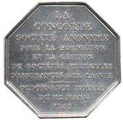 Token - Assurances Concorde – reverse