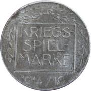 Kriegsspielmarke (Von Mackesen) – reverse