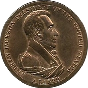 Token - Peace and Friendship (Andrew Jackson) – obverse