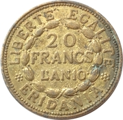 20 Francs marengo reproduction – reverse