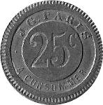 25 Centimes - J.G. (Paris) – obverse
