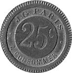 25 Centimes - J.G. (Paris) – reverse