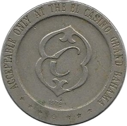 1 Dollar Gaming Token - El Casino (Freeport, Grand Bahama Island) – reverse