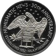 Token - Numismatic News (30th Anniversary) – reverse
