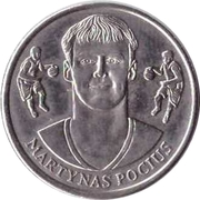 Official Lithuanian Basketball Players Medal Collection (Martynas Pocius) – obverse