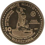 10 Miedziaków miejskich (Warszawa) – obverse