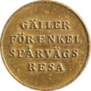 Tram Token - Jönköpings Spårvägar – reverse