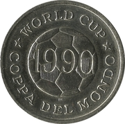 Token - FIFA World Cup 1990 (Sweden) – reverse