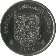 Token - Official England Squad 1996 (David Platt) – reverse