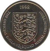 Token - Sainsbury's Official England Squad 1998 (Tony Adams) – reverse