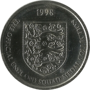 Token - Sainsbury's Official England Squad 1998 (Philip Neville) – reverse