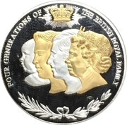 Four Generations Medal (The House of Windsor) – reverse