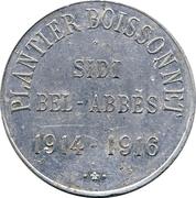 10 Centimes - Plantier-Boisonnet (Sidi Bel-Abbés) – obverse