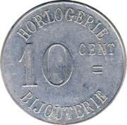 10 Centimes - Plantier-Boisonnet (Sidi Bel-Abbés) – reverse