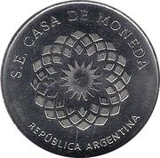 Token - Heroines of the Patria Grande (Juana Azurduy) – reverse
