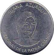 Token - Heroines of the Patria Grande (Juana Azurduy) – obverse
