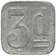 3 Pence (Liverpool Internment Camp Token) – reverse