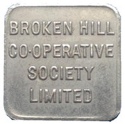 Bread Token - Half Loaf, Broken Hill Co-Operative Society Limited – obverse