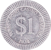 1 Dollar - Wrest Point Casino Tasmania – obverse