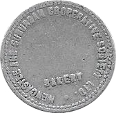 ½ Loaf Bakery Token - Newcastle and Suburban Cooperative Society Ltd. – obverse
