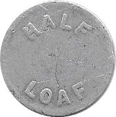 ½ Loaf Bakery Token - Newcastle and Suburban Cooperative Society Ltd. – reverse