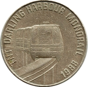 Token - TNT Darling Harbour Monorail (Wombat) – reverse