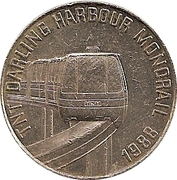 Token - TNT Darling Harbour Monorail (Crocodile) – reverse
