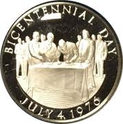 US Independence Bicentennial 1/2 oz Silver Medal – reverse
