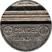 Token - Gettone Apparecchi Automatici (430; Conidel Fidenza) – reverse