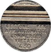 Token - Gettone Apparecchi Automatici (430; Conidel Fidenza) – obverse
