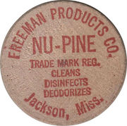 Wooden Nickel - Freeman Products (Jackson, Miss.) – obverse