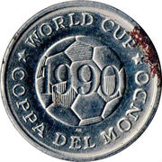 Token - FIFA World Cup 1990 (Czechoslovakia) – reverse