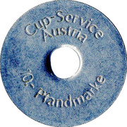 10 Pfandmarke - Cup-Service Austria – reverse
