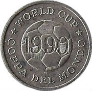 Token - FIFA World Cup 1990 (Germany) – reverse