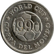 Token - FIFA World Cup 1990 (Ireland) – reverse