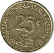 25 Cent Gaming Token - Grand Victoria Casino – obverse
