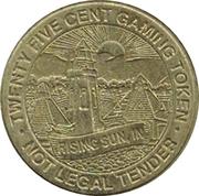 25 Cent Gaming Token - Grand Victoria Casino – reverse