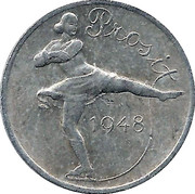 New Year Lucky Token (Ice Skater) – obverse