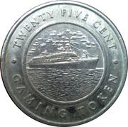 25 Cent Gaming Token - Norwegian Cruise Line – reverse