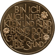 New Year Lucky Token (Prosit Neujahr) – reverse