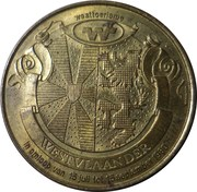 25 Westvlaander (12 coats of arms) – obverse