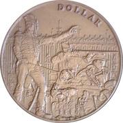 Dollar des Voltigeurs de Québec – obverse