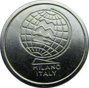 Token - MMC Milano Italy (3 spaced grooves) – obverse