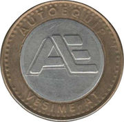Car Wash Token - Pinguino verde – reverse