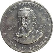 Token - Shell's Mr. President Coin Game (Benjamin Harrison) – obverse