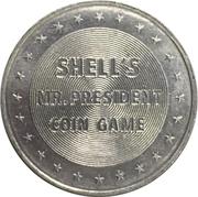 Token - Shell's Mr. President Coin Game (Benjamin Harrison) – reverse